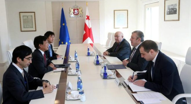 Prime Minister of Georgia Giorgi Kvirikashvili held a meeting with the new Ambassador of Japan to Georgia Tadaharu Uehara
